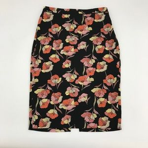 Who What Wear Floral Printed Midi Skirt *